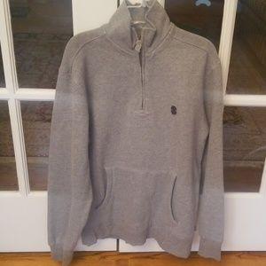 Gray Izod quater zip pullover S